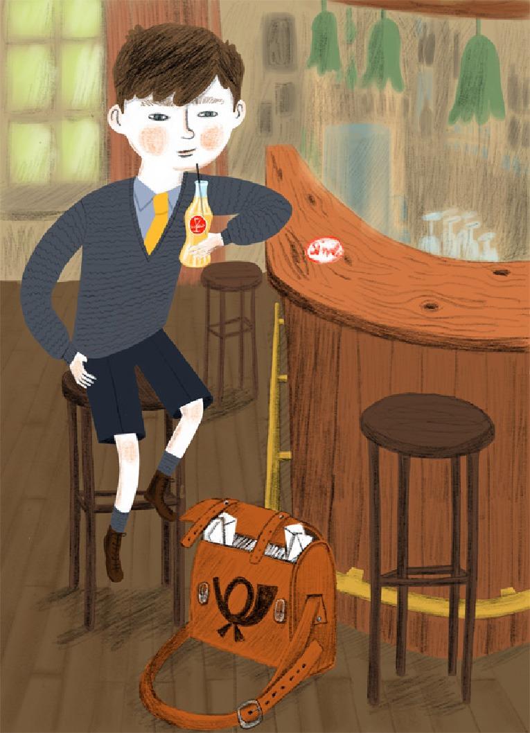 """""""Little postman"""" – illustration"""