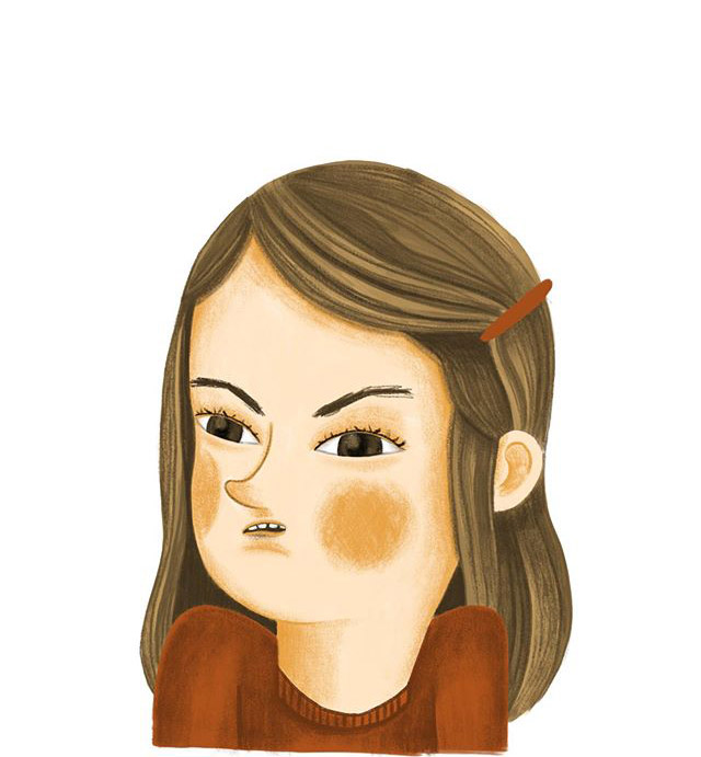 Portrait of a young woman – illustration